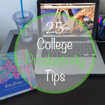 25 College Productivity Tips